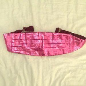 💗 Vintage Metallic Pink Cumberbund | 80s GLAM 💗